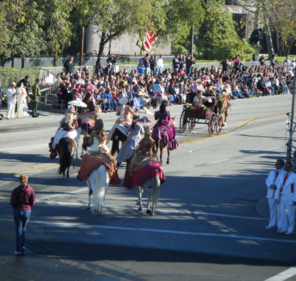 riding in the 2011 rose parade